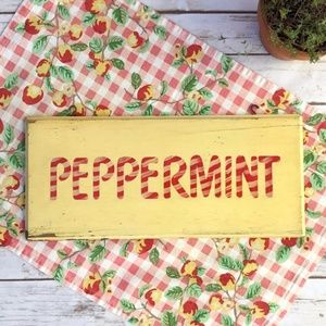 Vintage Wooden Shabby Ice Cream Sign Peppermint